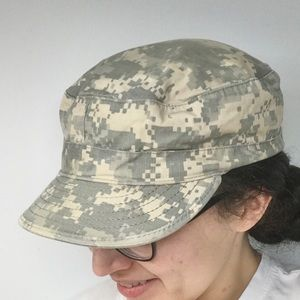 Unisex US Army fatigue hat military issue camo